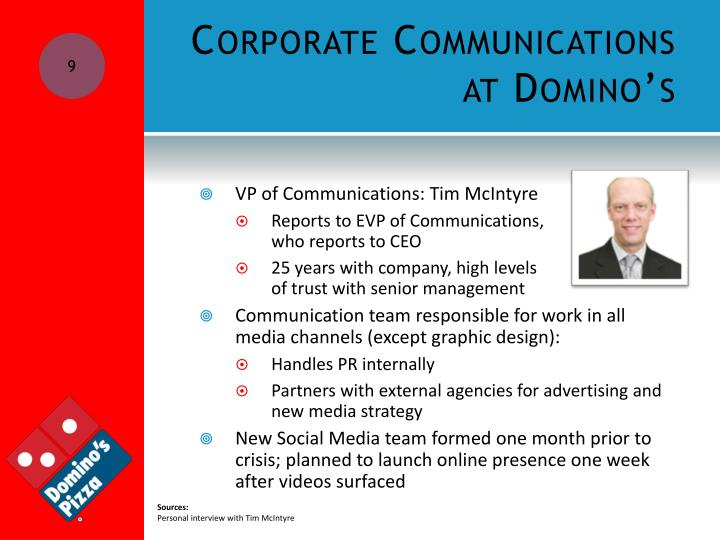 Corporate Communications at Domino's