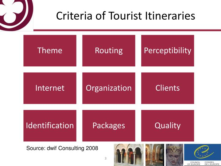 Criteria of tourist itineraries l.jpg
