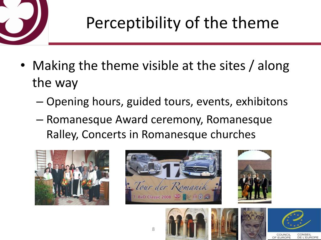 Perceptibility of the theme