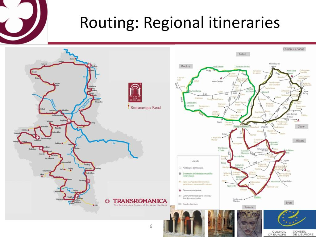 Routing: Regional itineraries
