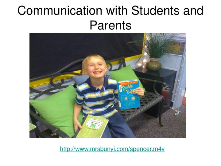 Communication with Students and Parents