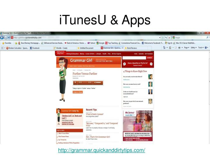 iTunesU & Apps