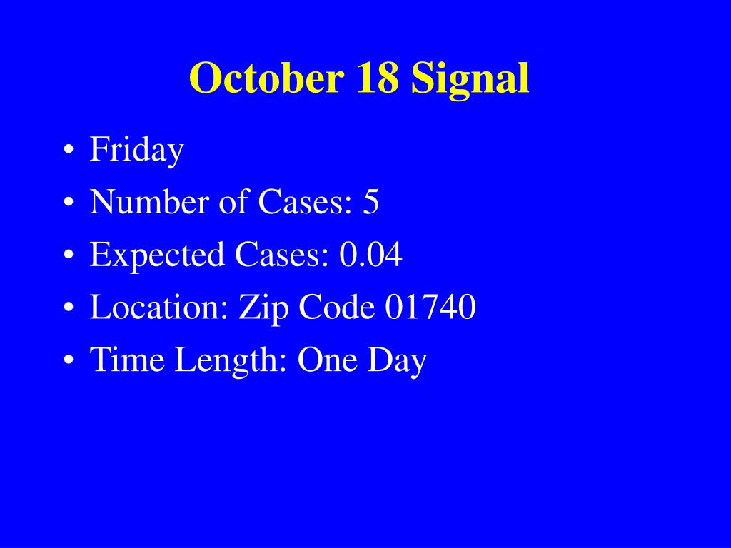 October 18 Signal