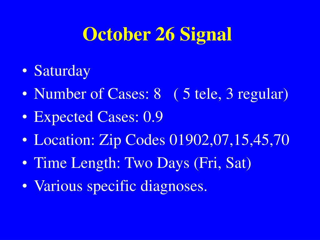 October 26 Signal