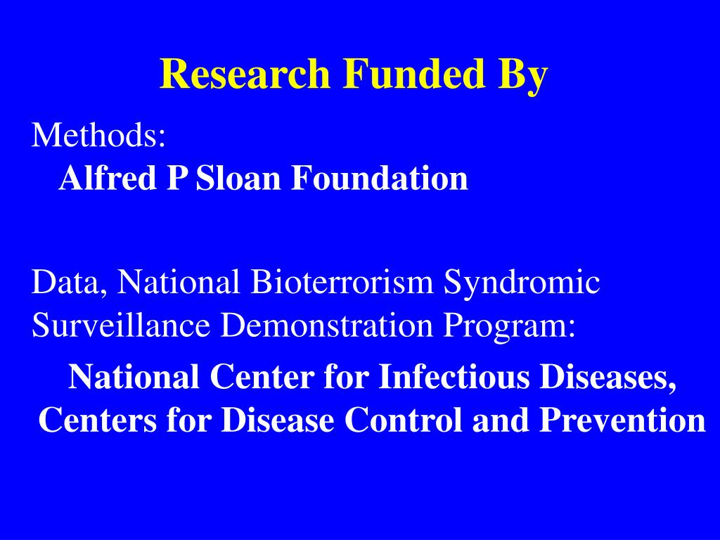 Research Funded By
