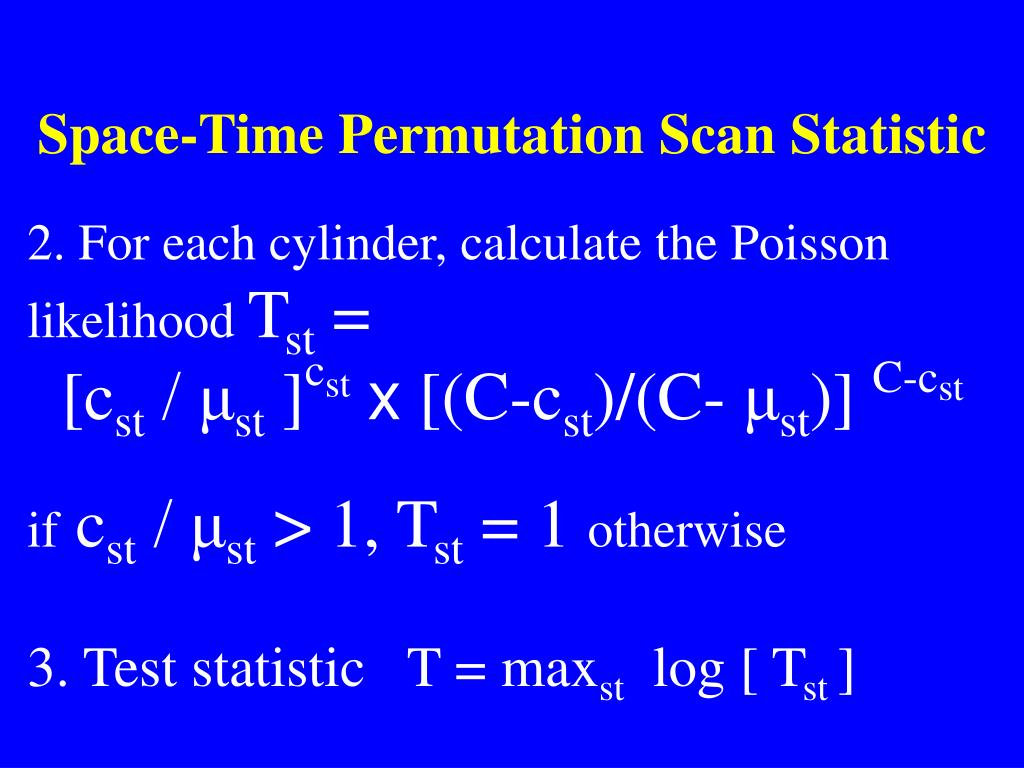 Space-Time Permutation Scan Statistic