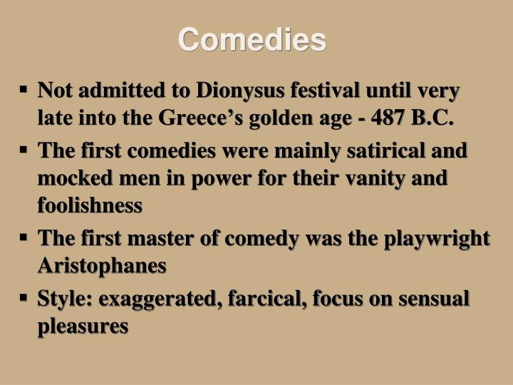 Ppt the golden age of ancient greek theatre powerpoint for Farcical fertility