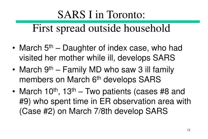 SARS I in Toronto: