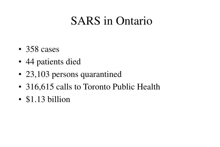 SARS in Ontario