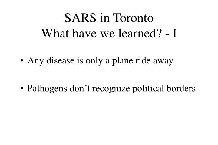 SARS in Toronto