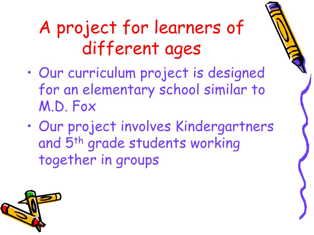 A project for learners of different ages