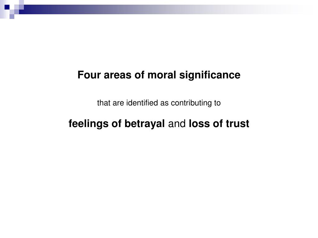 Four areas of moral significance