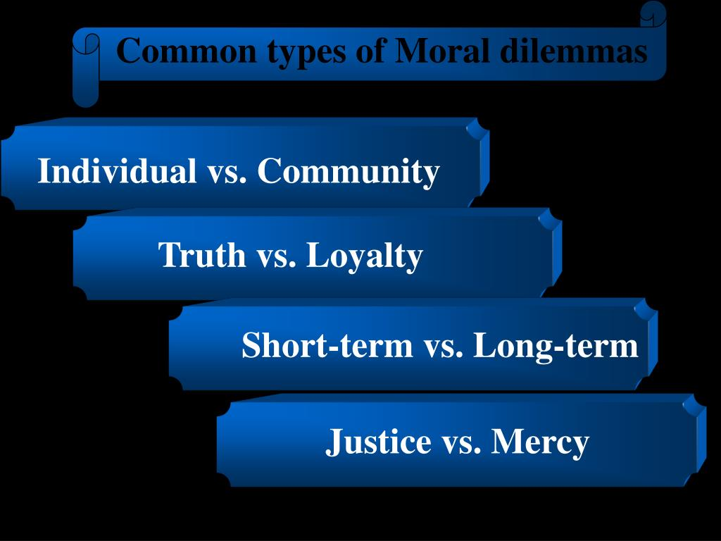 Common types of Moral dilemmas