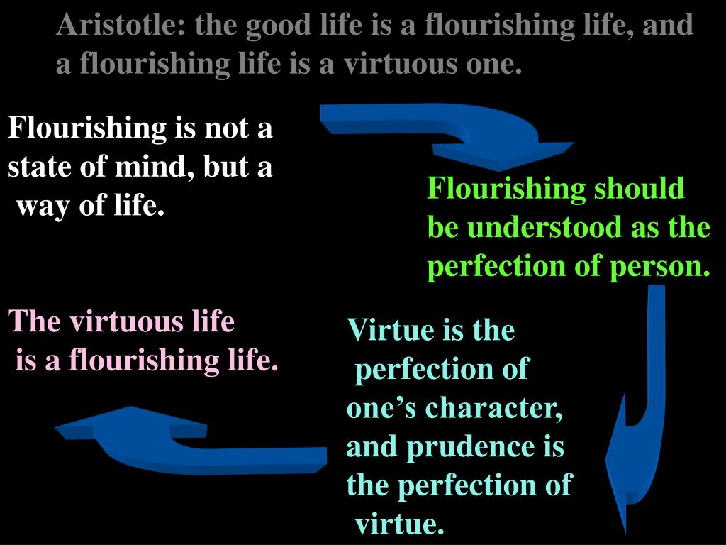 Aristotle: the good life is a flourishing life, and