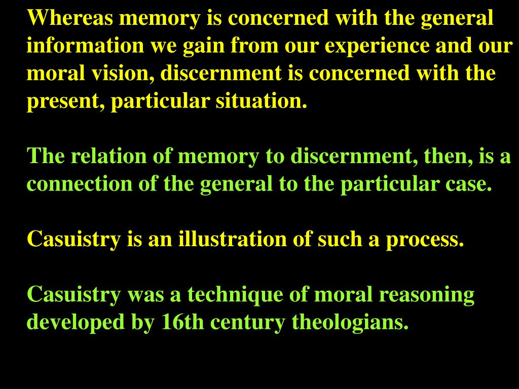 Whereas memory is concerned with the general