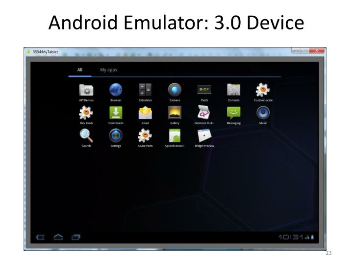 Android Emulator: 3.0 Device