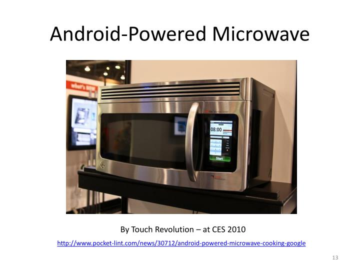 Android-Powered Microwave