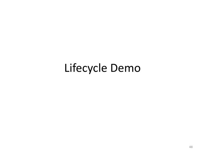 Lifecycle Demo