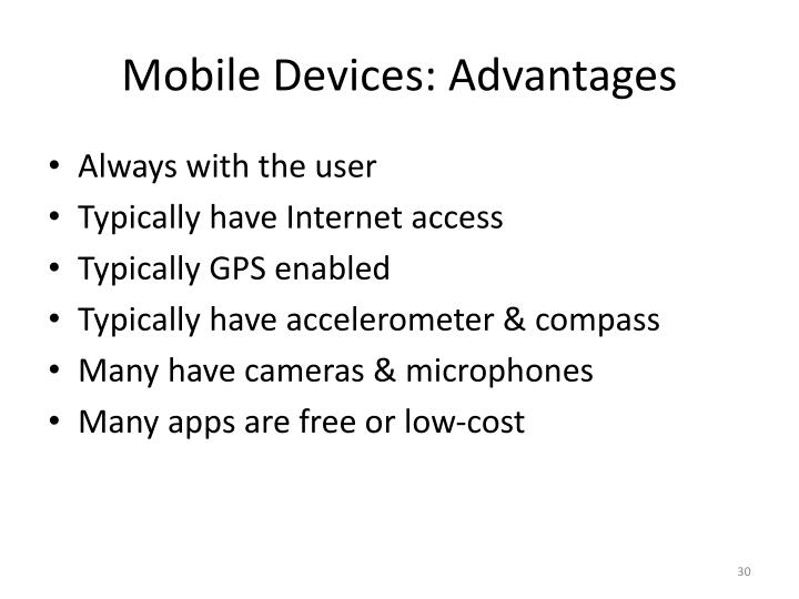 Mobile Devices: Advantages