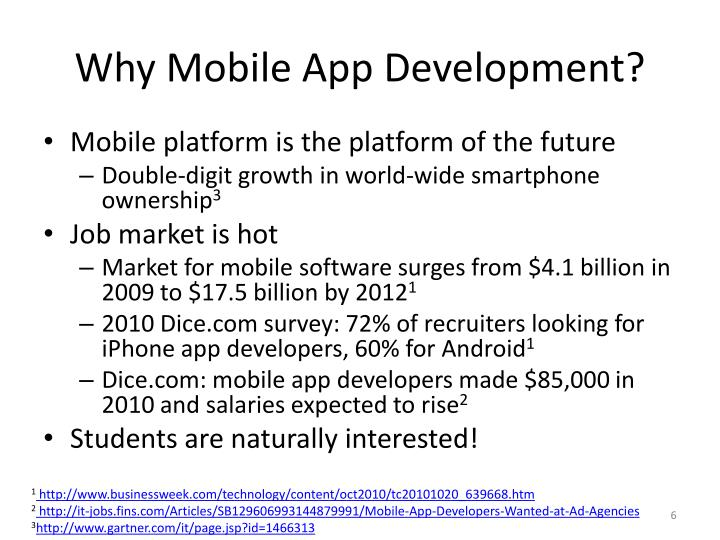 Why Mobile App Development?