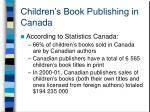 children s book publishing in canada