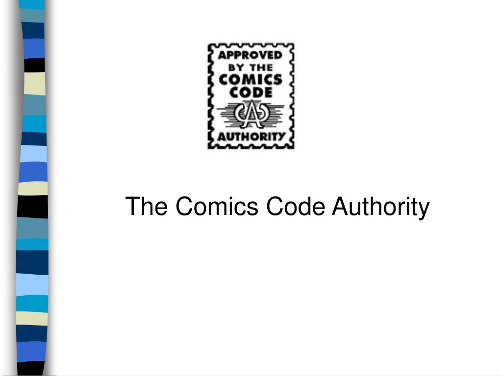 The Comics Code Authority