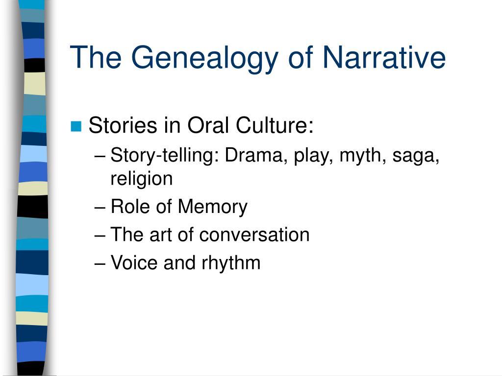 The Genealogy of Narrative