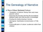 the genealogy of narrative10