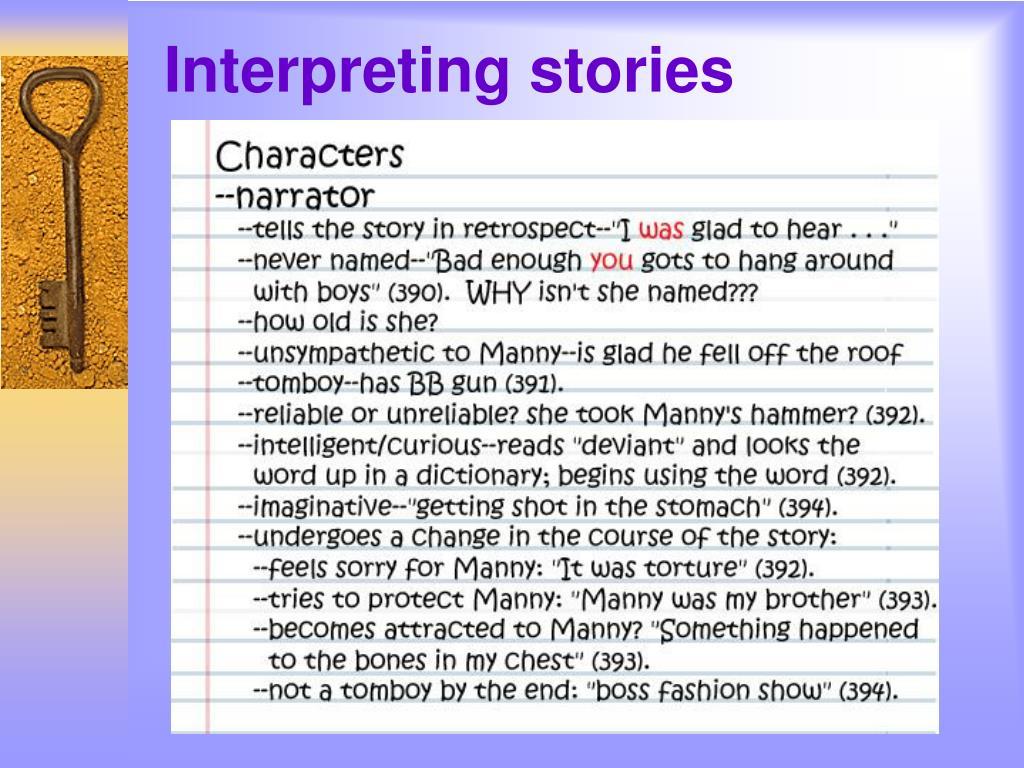 Interpreting stories
