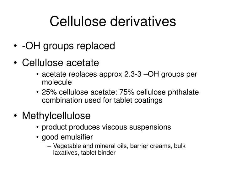Cellulose derivatives