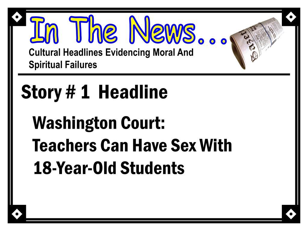 Story # 1  Headline