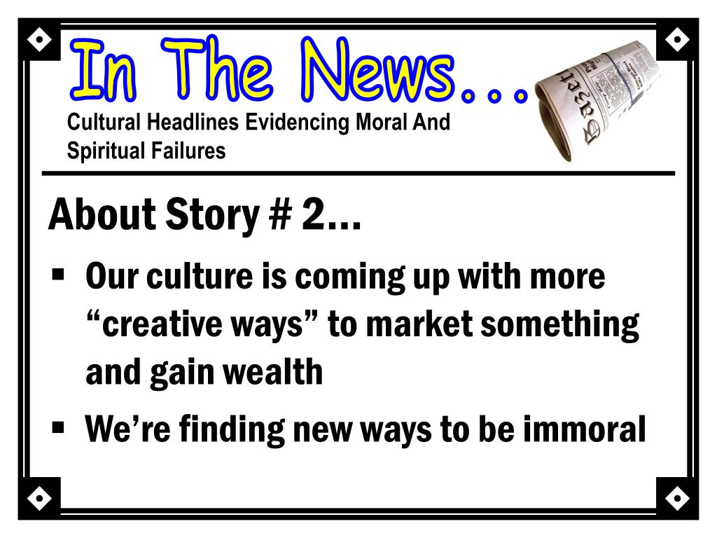 About Story # 2…