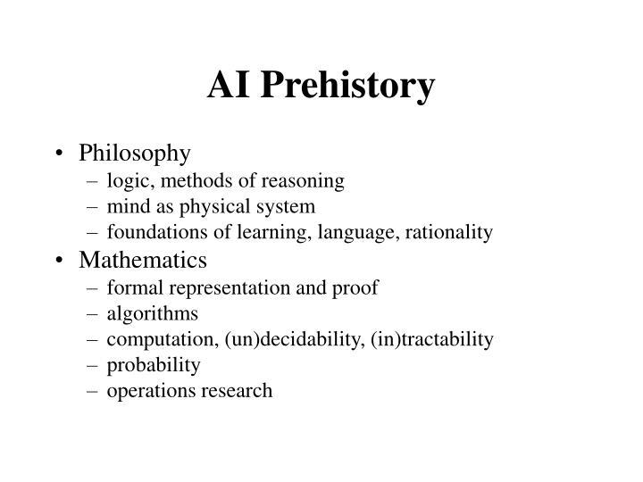 AI Prehistory