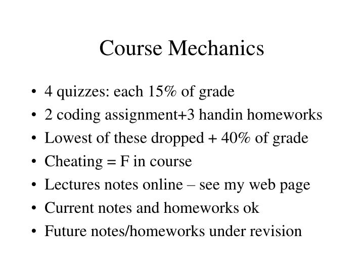 Course mechanics