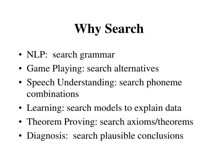 Why Search