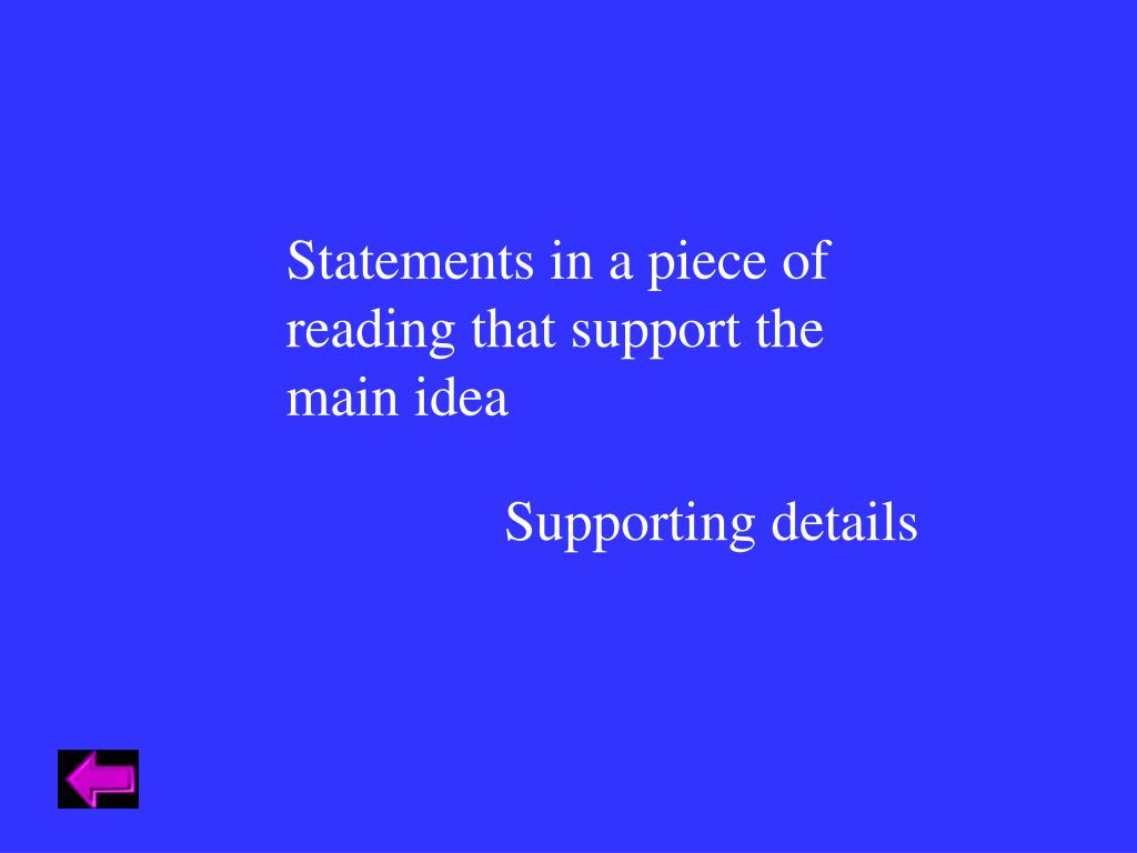 Statements in a piece of