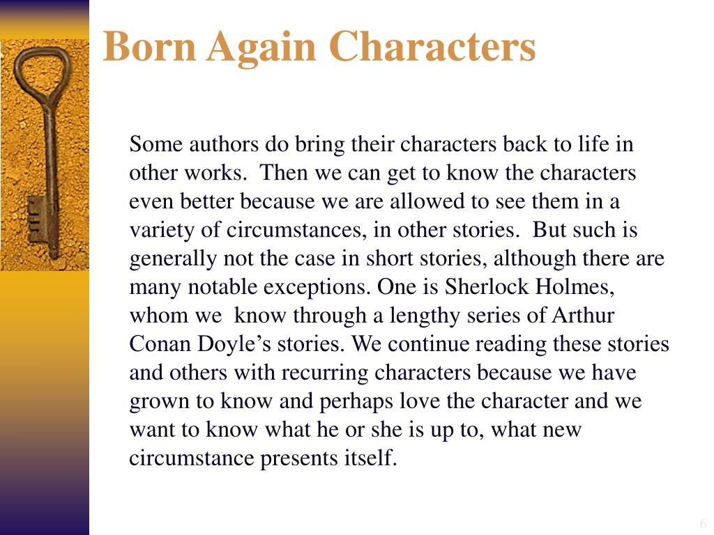 Born Again Characters