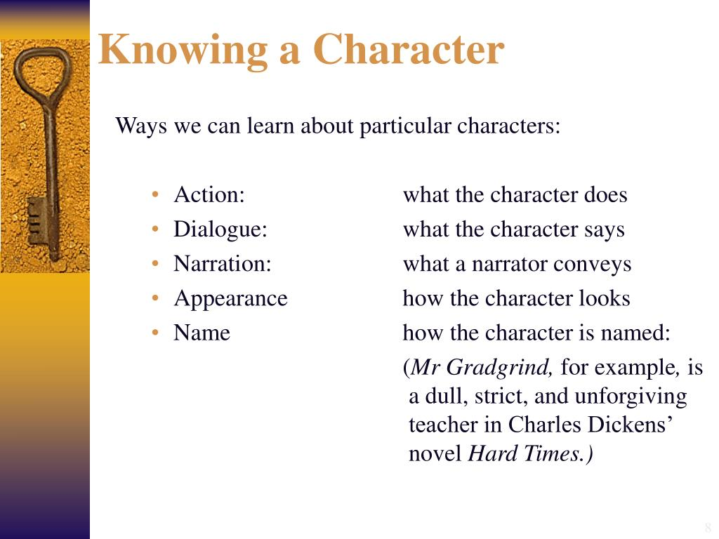 Knowing a Character