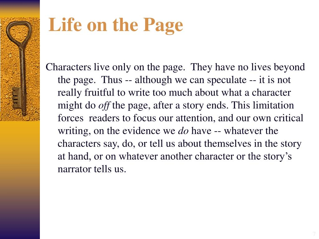 Life on the Page