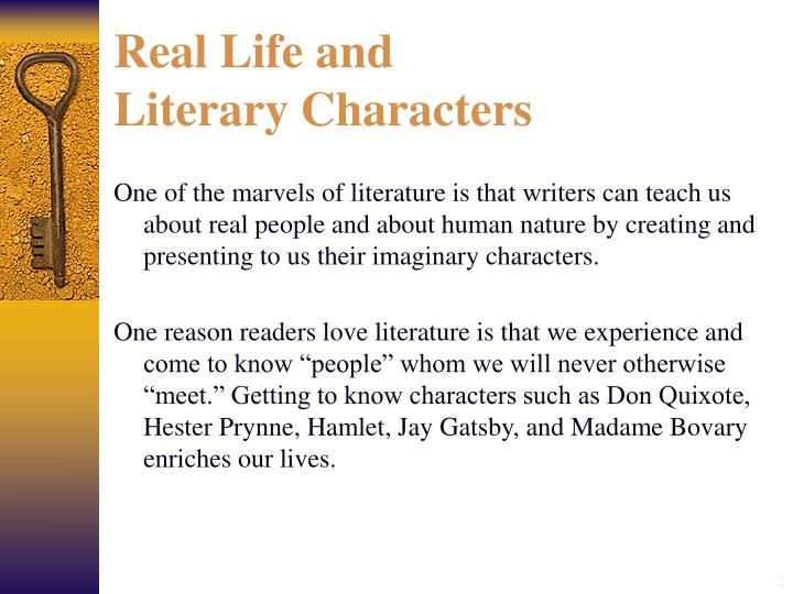 Real life and literary characters