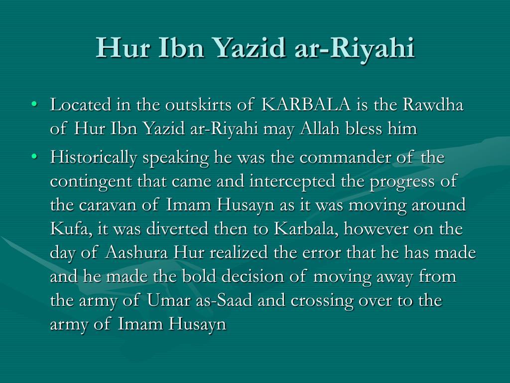 Hur Ibn Yazid ar-Riyahi