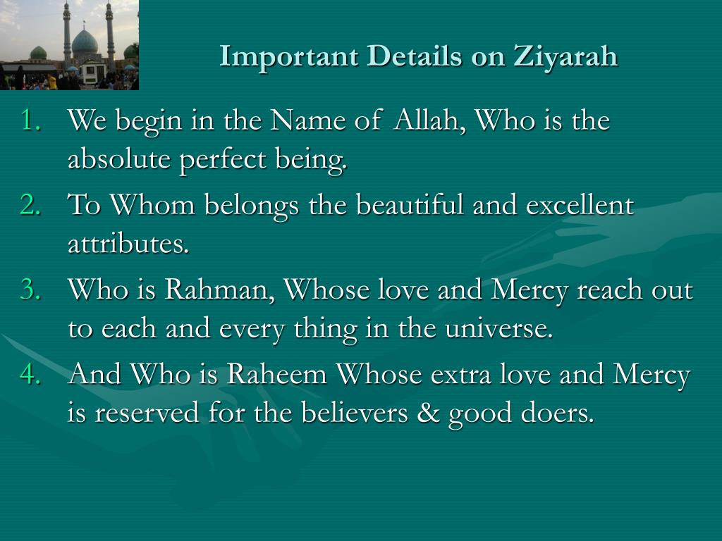 Important Details on Ziyarah