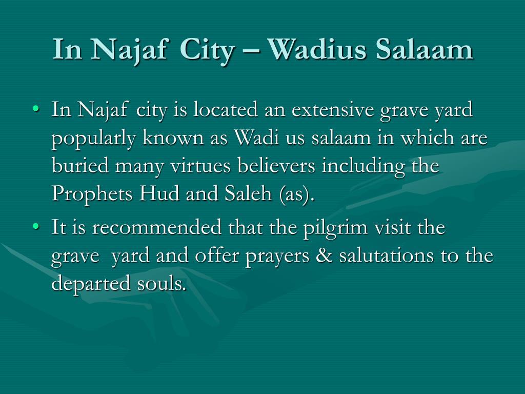 In Najaf City – Wadius Salaam