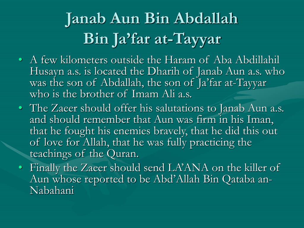 Janab Aun Bin Abdallah