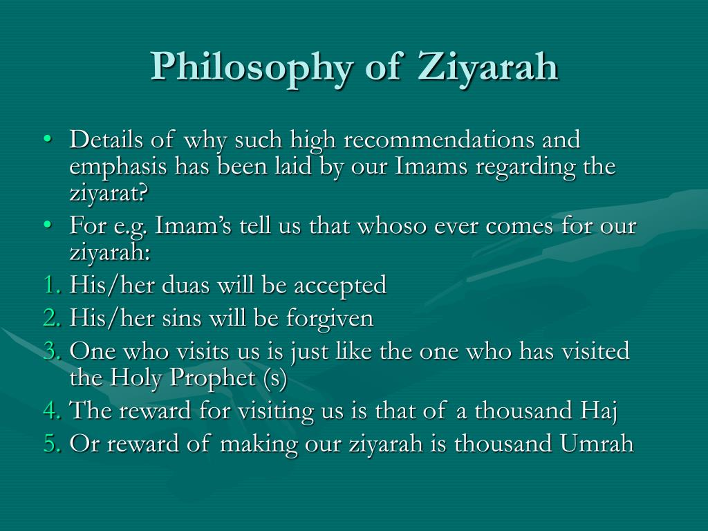Philosophy of Ziyarah