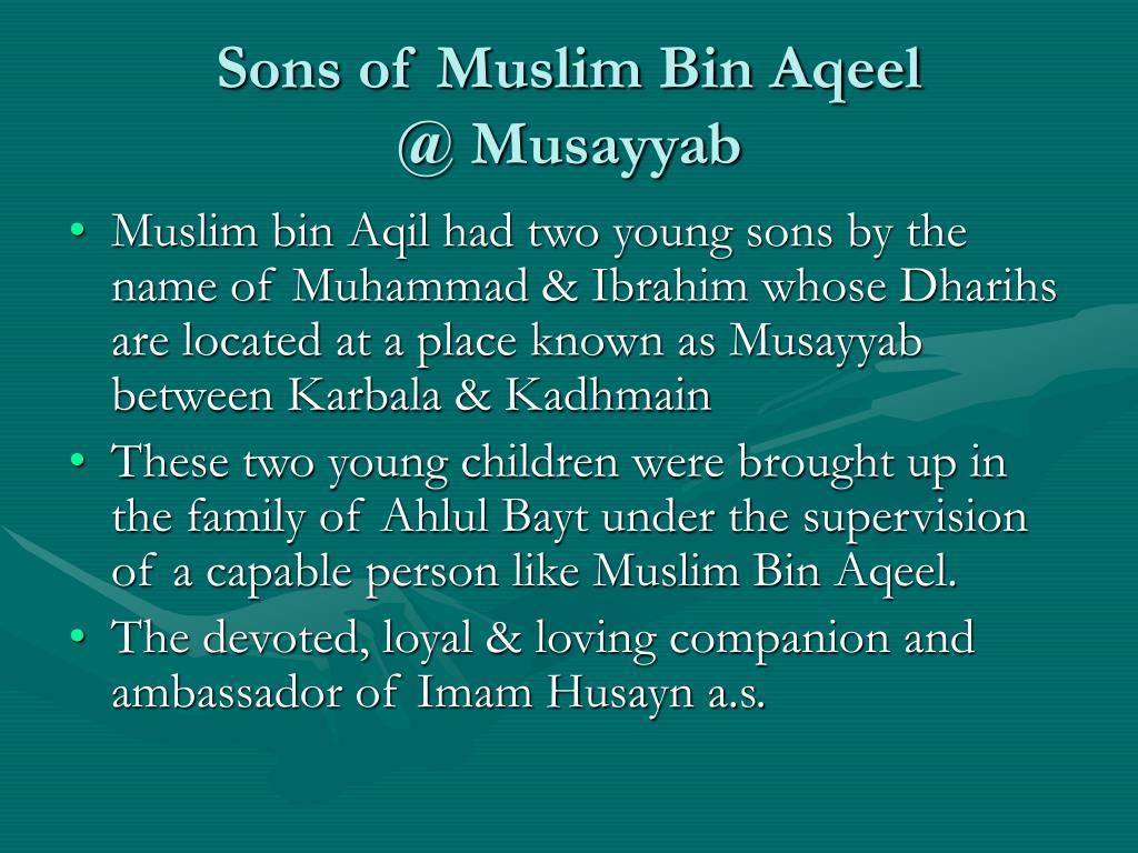Sons of Muslim Bin Aqeel