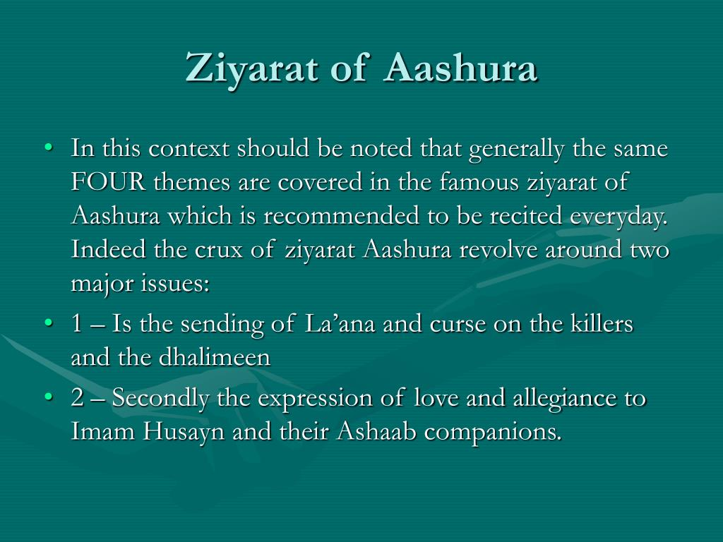Ziyarat of Aashura