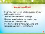 measure and track