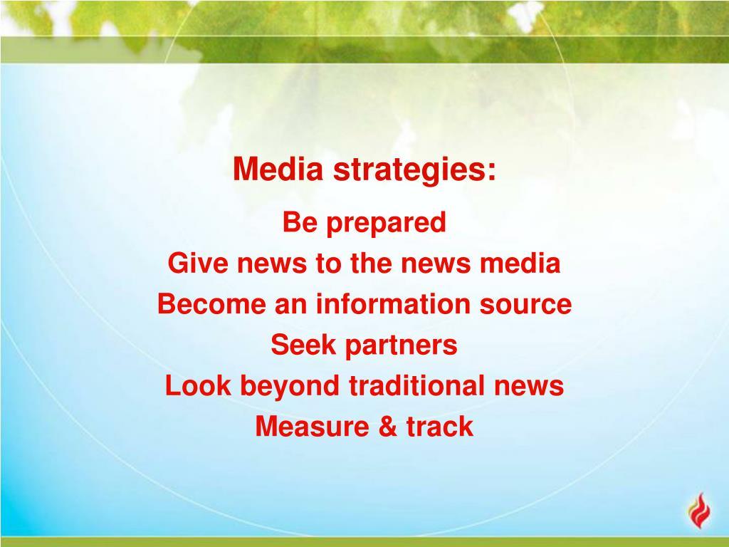 Media strategies: