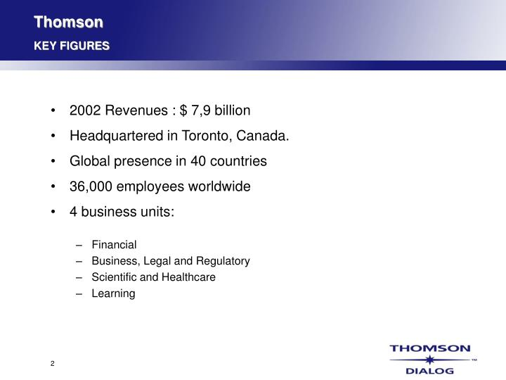 Thomson key figures